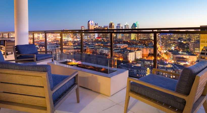 apartment rooftop lounger