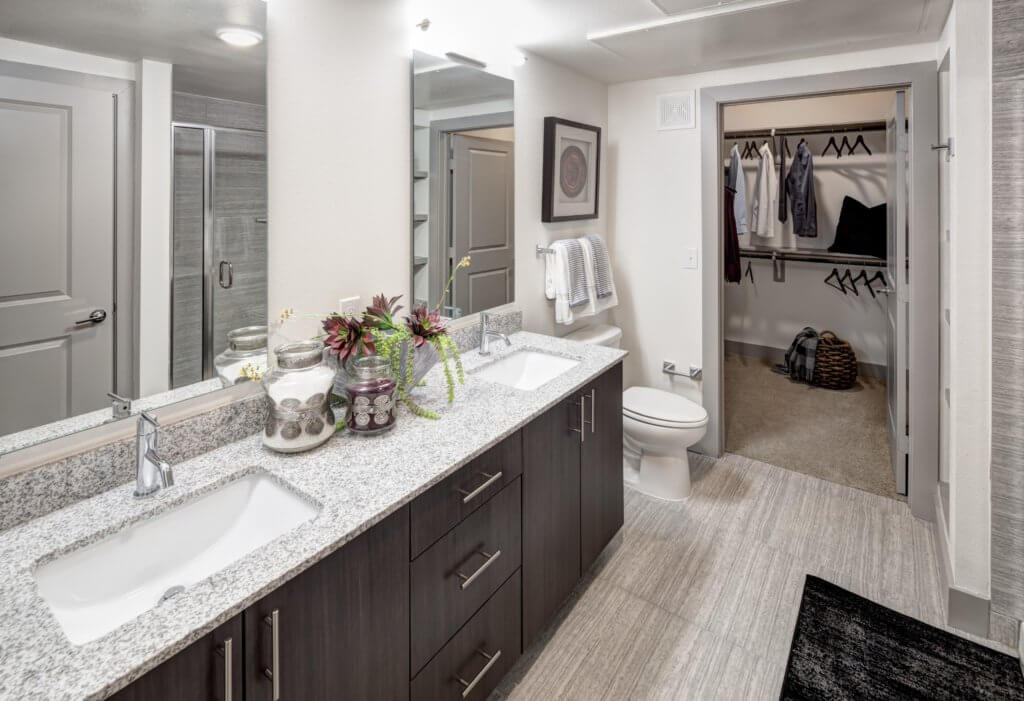 apartment with double sinks