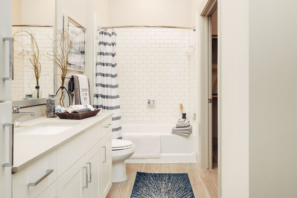 subway tile bathrooms frisco apartments