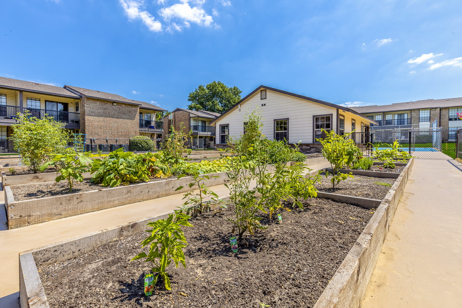 apartments with community gardens in dfw
